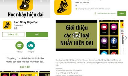 Ra mắt ứng dụng Học nhảy hiện đại đầu tiên trên CH Play